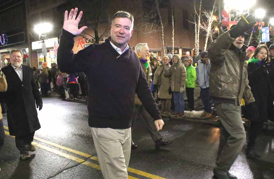 U.S. Rep. Chris Gibson, R-19, shown here at Oneonta's First Night Parade, announced today he is forming an exploratory committee to run for governor. (AllOTSEGO.com photo)